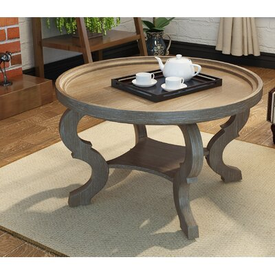 Feldt Circular Coffee Table Color: Natural