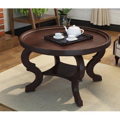 Feldt Circular Coffee Table Color: Dark Walnut