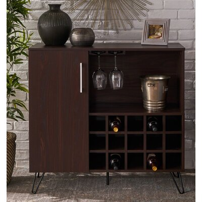 Fenske Mid Century Wine and Bar Cabinet Color: Wenge