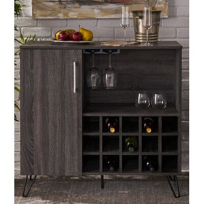 Fenske Mid Century Wine and Bar Cabinet Color: Gray