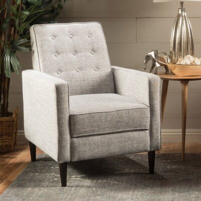 Russo Manual Recliner Color: Light Gray