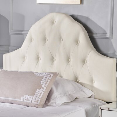 Arria Twin Panel Headboard Upholstery: Ivory