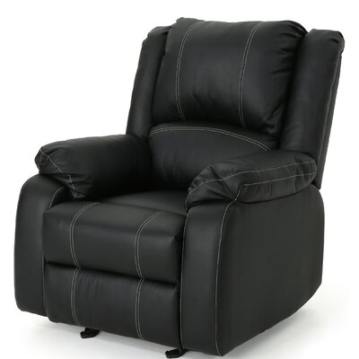 Honea Traditional Manual Glider Recliner Upholstery: Black