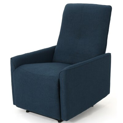 Pehrson Traditional Manual Glider Recliner Upholstery: Navy Blue