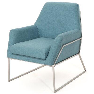 Sankey Modern Armchair Upholstery: Blue
