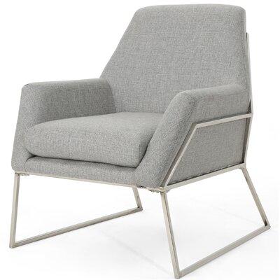Sankey Modern Armchair Upholstery: Gray
