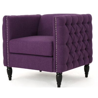 Mcnealy Modern Tufted Armchair Upholstery: Purple