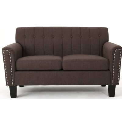 Mullaghboy Traditional Loveseat Color: Dark �Brown