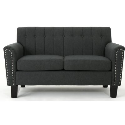 Mullaghboy Traditional Loveseat Color: Dark Gray