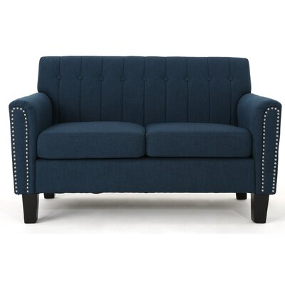 Mullaghboy Traditional Loveseat Color: Navy Blue