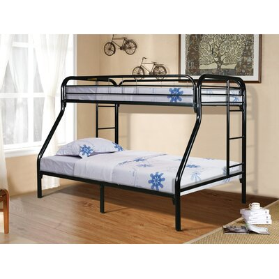 Twin Over Full Bunk Bed Finish: Black