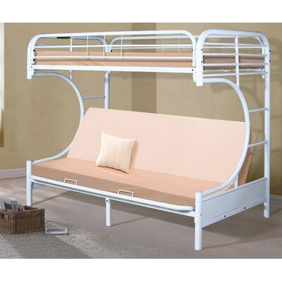Hazelwood Home C-Frame Futon Bunk Bed - Finish: White