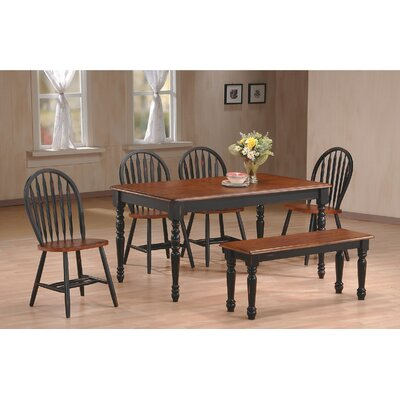 6 Piece Dining Set Finish: Cherry/Black