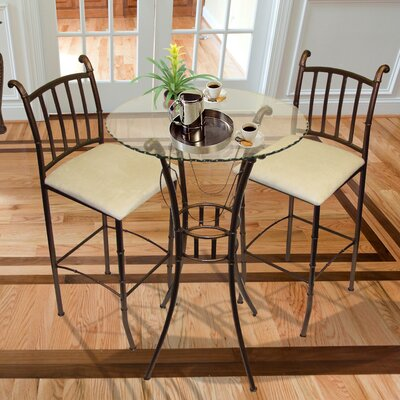 Italian 3 Piece Pub Table Set