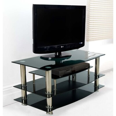 41 TV Stand Color: Black Glass