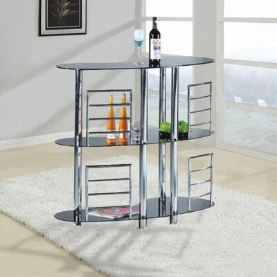 Bar with 3 Shelves