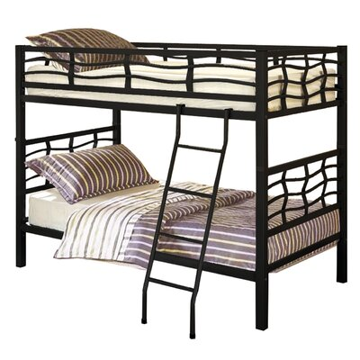 Functional Twin over Twin Bunk Bed Finish: Black