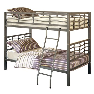 Functional Twin over Twin Bunk Bed Finish: Silver