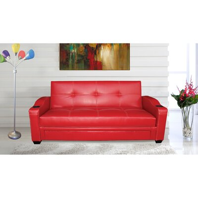 Functional Sleeper Sofa Color: Red