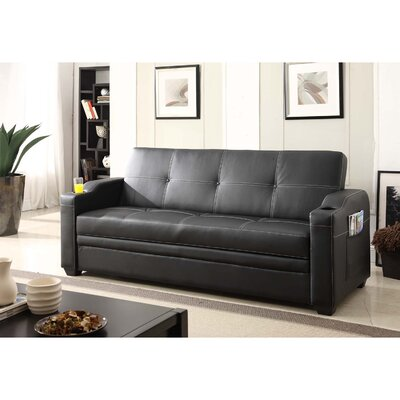 Functional Sleeper Sofa Upholstery: Black