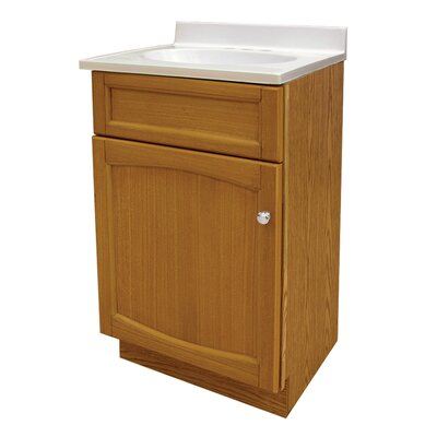 Liz 19 Single Bathroom Vanity Set Base Finish: Genuine Oak