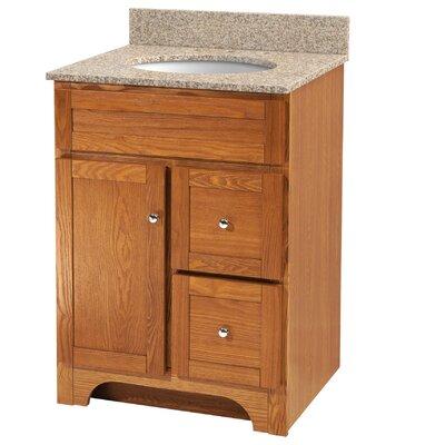 Worthington Bathroom Vanity Base Base Finish: Oak