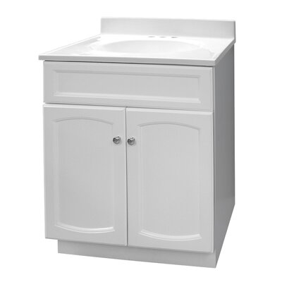 25 Single Bathroom Vanity Set Base Finish: Premium White