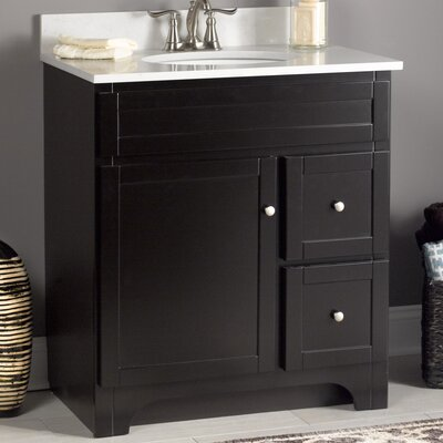 Worthington Bathroom Vanity Base Base Finish: Espresso