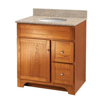 Worthington Bathroom Vanity Base Base Finish: Oak