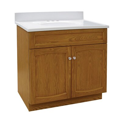 Heartland 31 Single Bathroom Vanity Set Base Finish: Genuine Oak