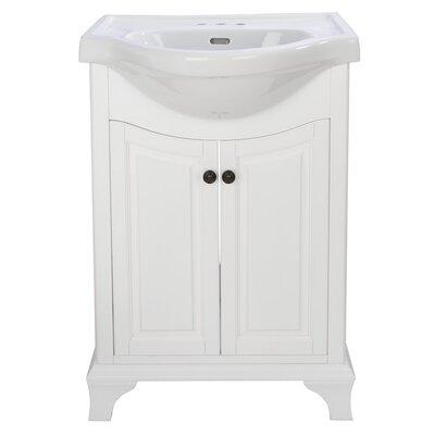Athens 25.75 Bathroom Vanity Base Finish: True White
