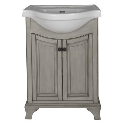 Corsicana 25.75 Bathroom Vanity Set Base Finish: Antique Gray