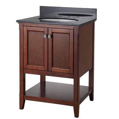 "Auguste 24"" Single Bathroom Vanity Base Base Finish: Chestnut"