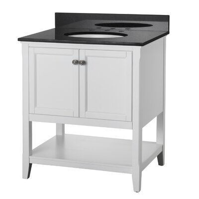 "Auguste 30"" Single Bathroom Vanity Base Base Finish: White"