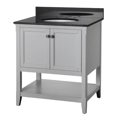 Auguste 30 Single Bathroom Vanity Base Base Finish: Gray