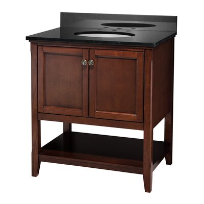 Auguste 30 Single Bathroom Vanity Base Base Finish: Chestnut