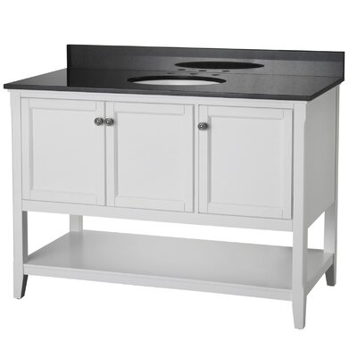 Auguste 48 Single Bathroom Vanity Base Base Finish: White
