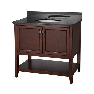 "Auguste 36"" Single Bathroom Vanity Base Base Finish: Chestnut"