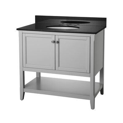 "Auguste 36"" Single Bathroom Vanity Base Base Finish: Gray"