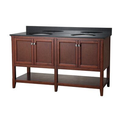 Auguste 60 Bathroom Vanity Base Base Finish: Chestnut