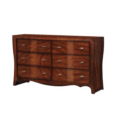 Jenny 6 Drawer Standard Dresser