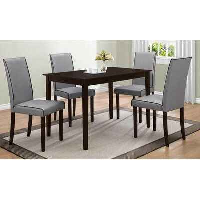 5 Piece Dining Set Upholstery Gray