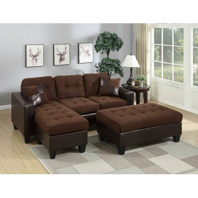 HAZE1774 32236689 Hazelwood Home Brown Sectionals