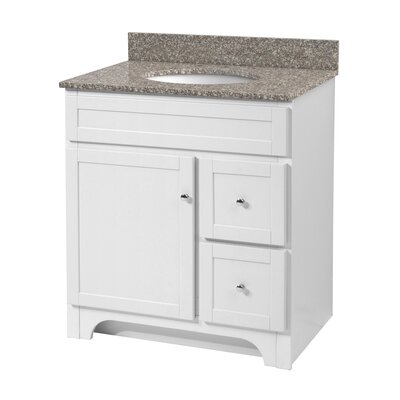 Deanfield 31 Single Bathroom Vanity Set Top Finish: Mohave Beige, Base Finish: White