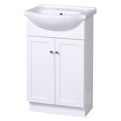 Merlo 22 Single Euro Bathroom Vanity Set Base Finish: White