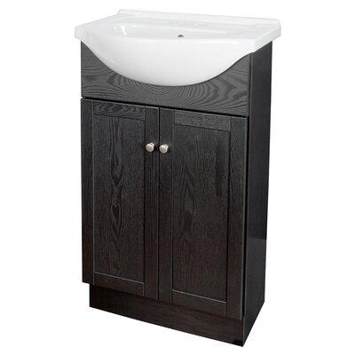Merlo 22 Single Euro Bathroom Vanity Set Base Finish: Black