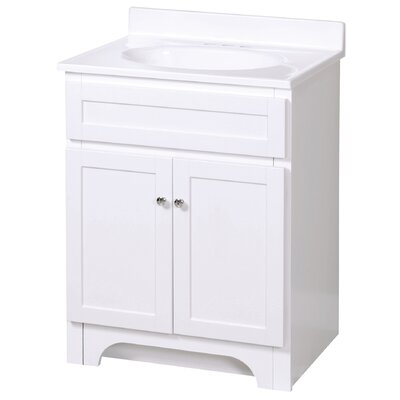 Merlo 25 Single Bathroom Vanity Set Base Finish: White