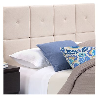 Chestercot Tiles Upholstered Panel Headboard Size: Twin, Upholstery: Taupe