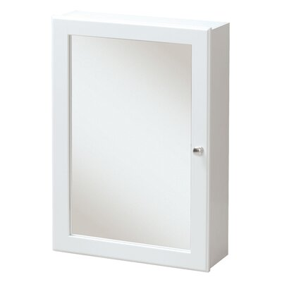 Campfield 16.63 x 23.75 Surface Mounted Medicine Cabinet Finish: White