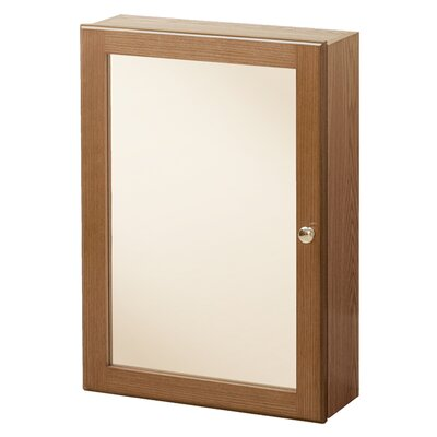 Campfield 16.63 x 23.75 Surface Mounted Medicine Cabinet Finish: Oak